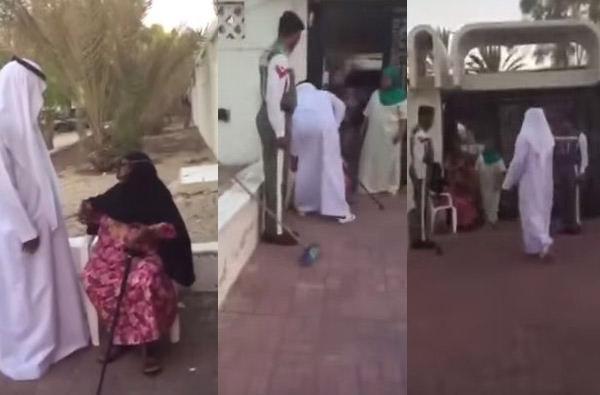 وزير إماراتي يعتذر من سيدة مسنة أصابها غبار طائرته بطريقة راقية
