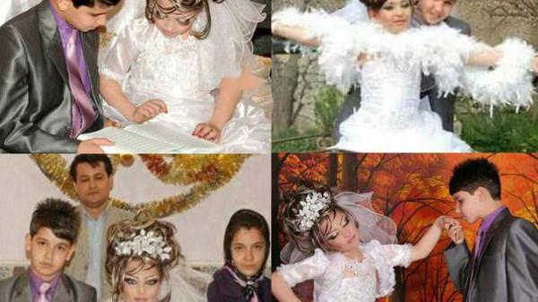 بالصور.. زواج في إيران العريس 14 عاماً والعروسة 10