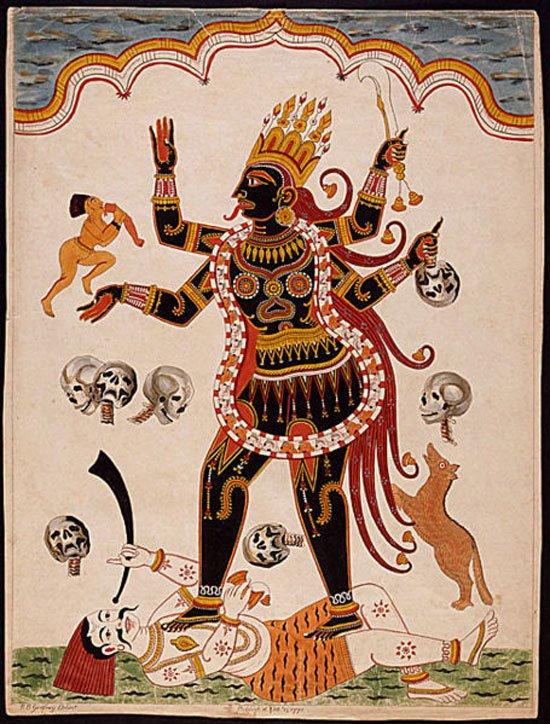 الإلهة كالى آلهة الموت بالهند.. يذبحون الأطفال قربانا لها
