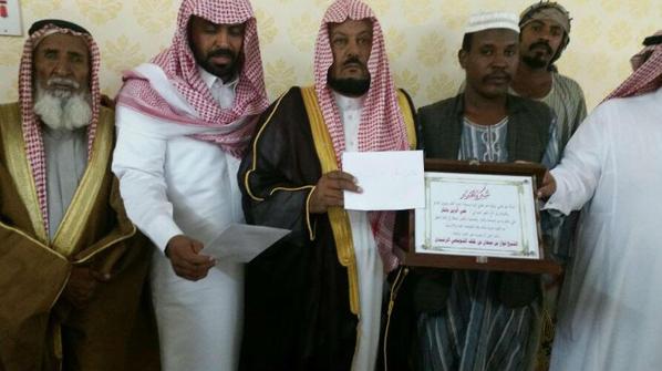 """السوداني """"منقذ طفل بدع حائل"""" يتلقى 55 ألف ريال"""