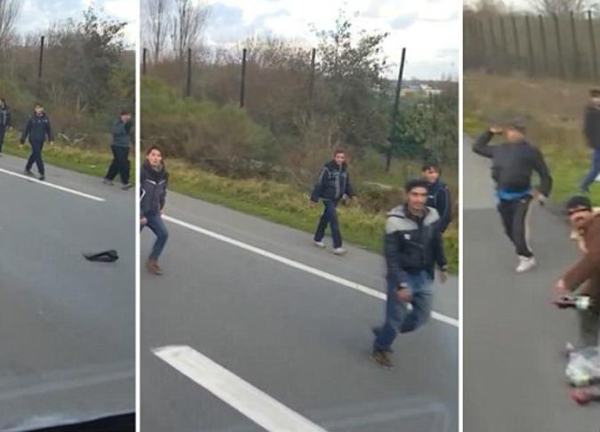 سائق أوروبي يحاول دهس لاجئين بشاحنته في فرنسا