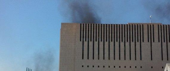حريق داخل مبنى التلفزيون السعودي