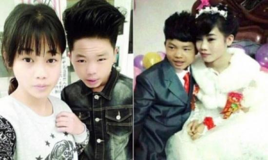 حفل زفاف صيني العريس 13 سنة والعروس 16
