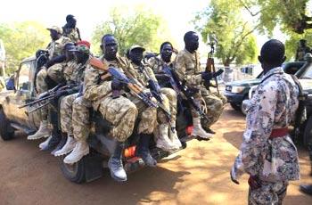 قوات الجنرال يوهانس أكيج : جنود سلفا كير يتجهون لمواقعنا