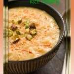 Bowl of Saffron Pistachio and Coconut Rice Pudding