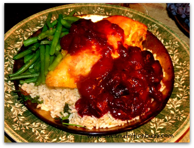 Ginger Roasted Chicken With Red Wine Plum Sauce # ...