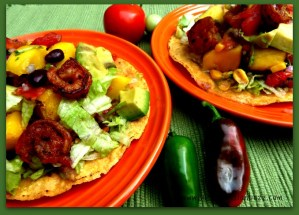 Zippy Shrimp Mango Chipotle Tostadas