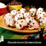 Choco coconut strawberry ghosts