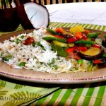 coconut rice pilaf with vegs