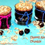 cherry almond crumble