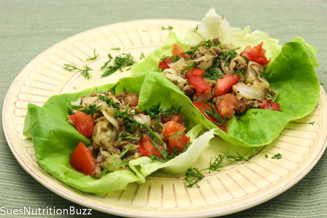 Turkey cabbage lettuce wraps-3