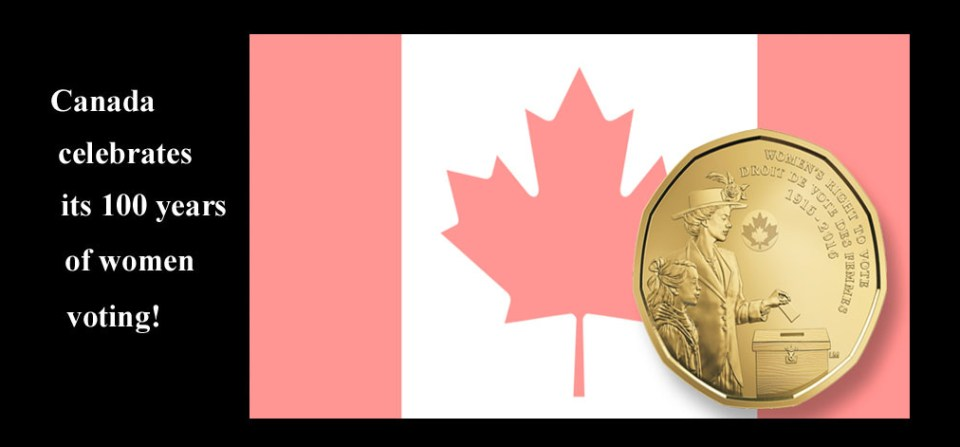 Canada preparing for its suffrage centennial in 2016!