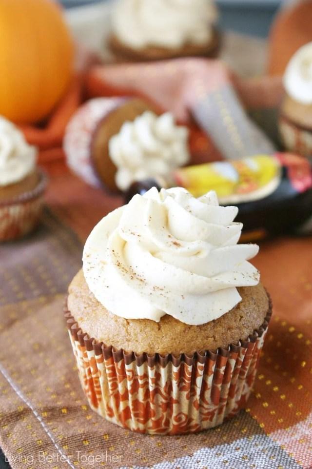 Pumpkin Kahlua Cupcakes