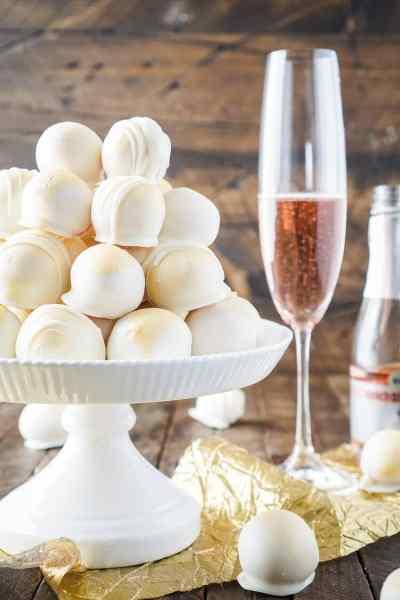 Strawberries & Champagne Cake Balls