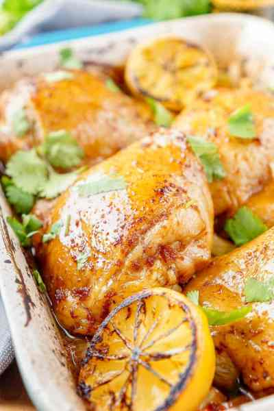 Lemon Ginger Soy Chicken Thighs