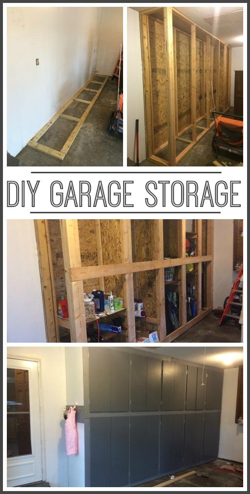 diy garage timber shelves