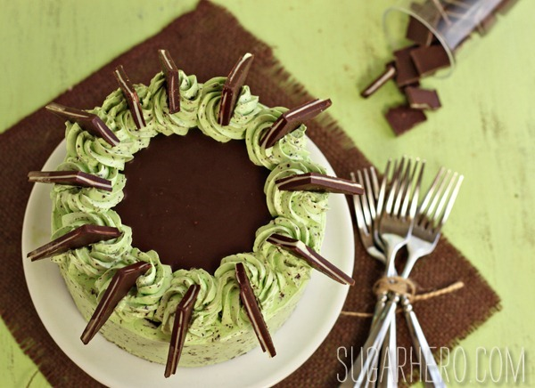 Mint Chocolate Chip Layer Cake | SugarHero.com