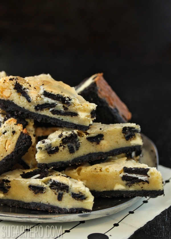 Cookies and Cream Oreo Bars | SugarHero.com