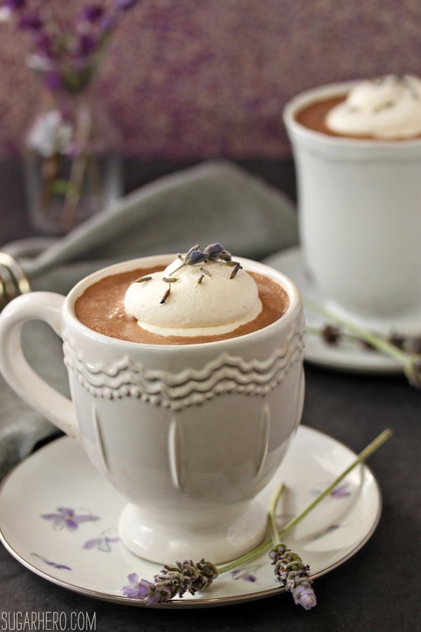 Lavender Hot Chocolate | SugarHero.com