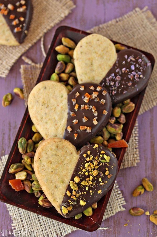 Pistachio Shortbread Cookies | SugarHero.com