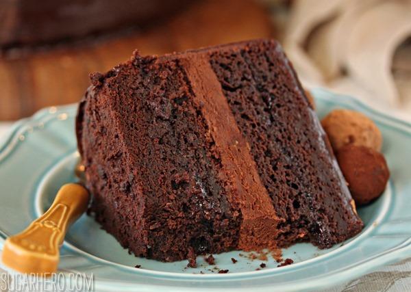 Truffle-Topped Heart Cake | SugarHero.com