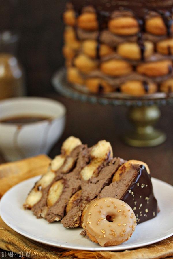 Doughnut Cake With Mocha Whipped Cream | From SugarHero.com
