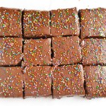 Frosted Sprinkle Brownies