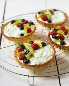 My Berry and Lemon Mascarpone tarts! Cooling racks serve sohellip