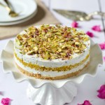 Pistachio and Boondi Cheesecake