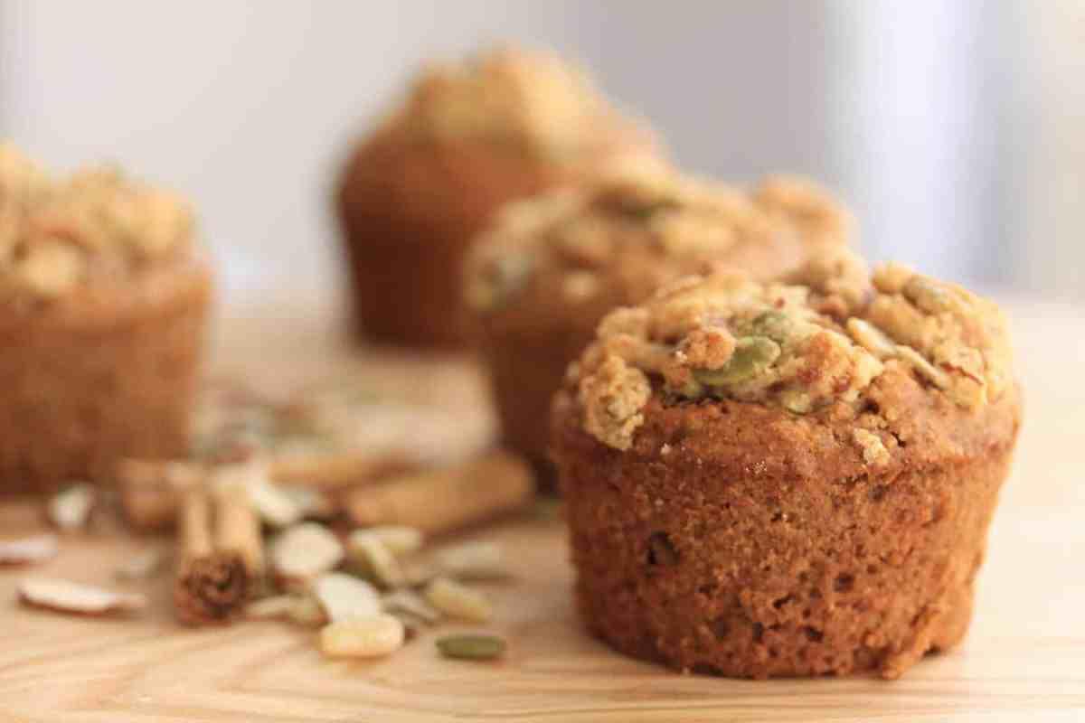 Healthy Nutty Cinnamon Muffins