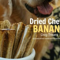 Dried Chewy Banana Dog Treats