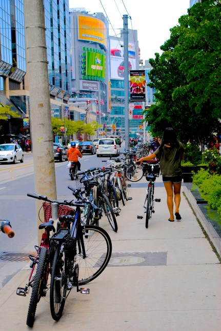 Getting to know Toronto on my own two feet (two wheels would have worked too...)