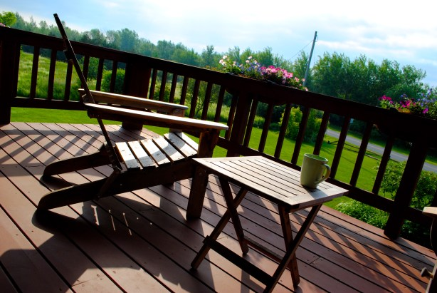 Coffee on the deck in the morning?  Don't mind if iI do!