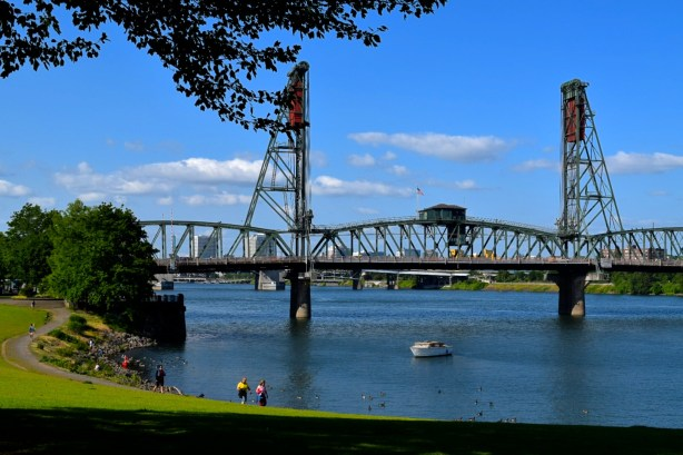 The Willamette River in Portland, Oregon--where my adventure begins!