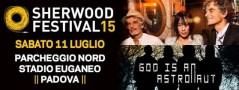 Locandina Sherwood Festival Blonde Redhead God Is an Astronaut Padova 11 07 2015 gig poster