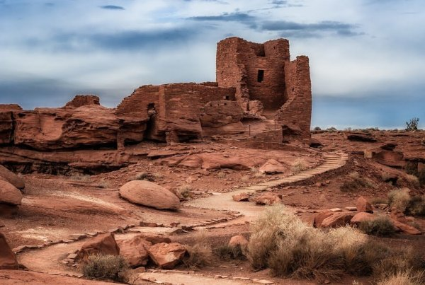 Ons section of the Wupatki Indian Ruins in Arizona.