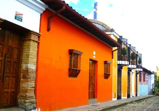 Colourful La Candelaria, in Bogota centre, Colombia
