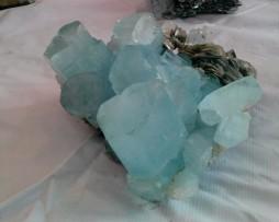blue aqua crystal specimen in pakistan gilgit gems