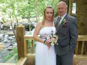 Wedding on deck