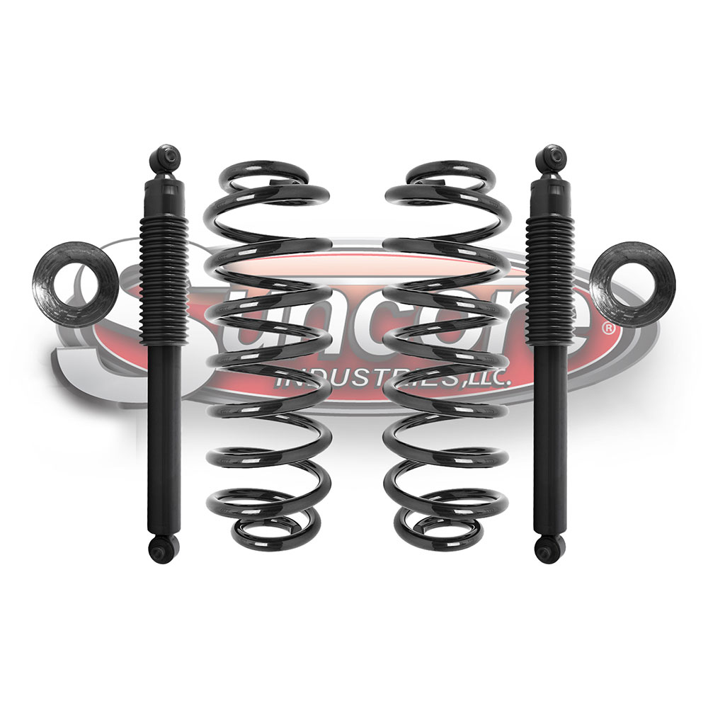 2002 2009 GMC Envoy Rear Air Suspension to Conventional Coil Spring     Air Suspension Air to Heavy Duty Coil Spring   Gas Shock Conversion Kit Rear  Pairs