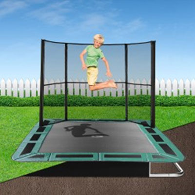 11ft x 8ft capital in ground trampoline half safety enclosure for Trampolines para piscinas