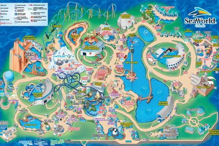 Map for sea world seaworld park map gumiabroncs Choice Image