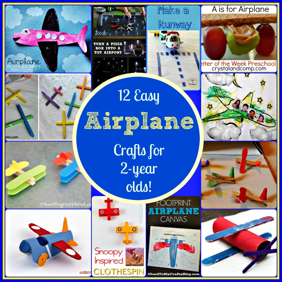 12 easy airplane crafts for 2 year olds for Craft ideas for 2 year olds