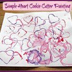 Simple Cookie Cutter Heart Painting