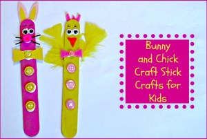 Bunny and Chick Crafts for Kids