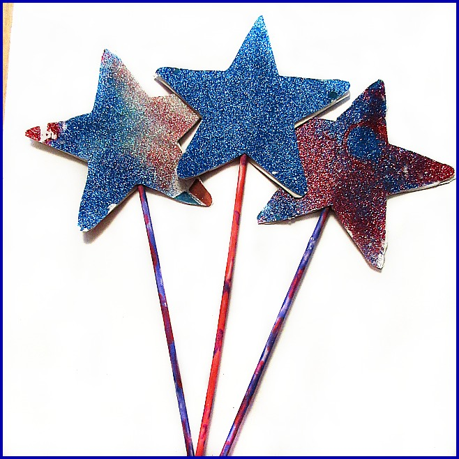 Sparkly glitter star wand crafts for kids for Glitter wand