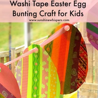 washi tape easter egg bunting craft for kids