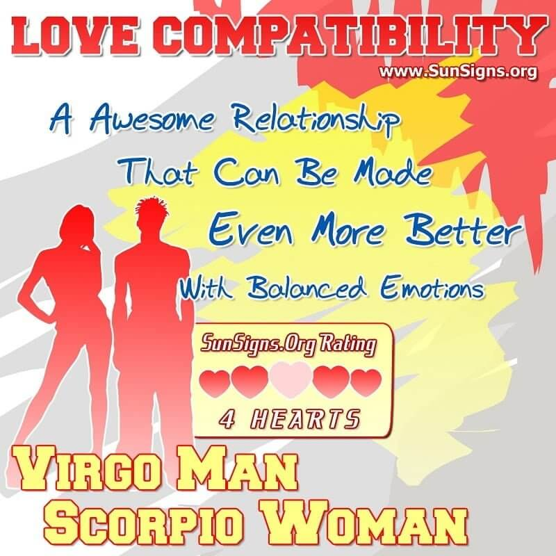 Virgo woman dating scorpio man