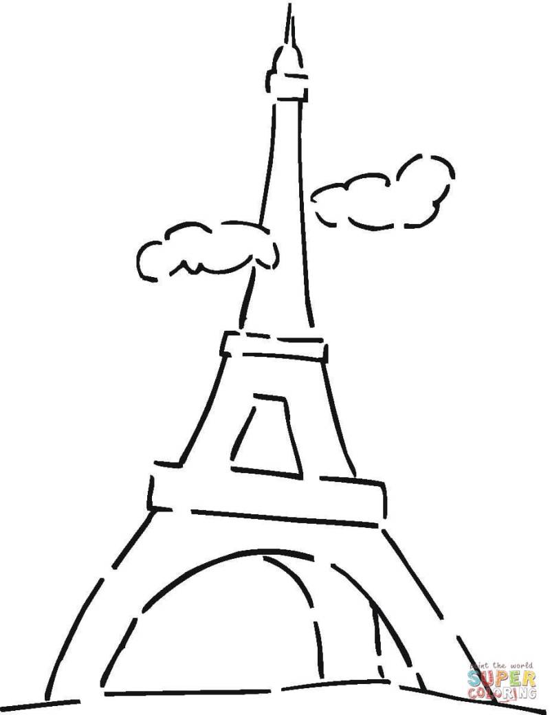 Large Of Eiffel Tower Cartoon