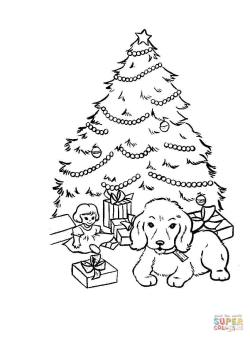 Artistic Preschool Tree Coloring Pages Printable Gifts Under Tree Tree Coloring Pages Free Coloring Pages Tree Coloring Pages Presents